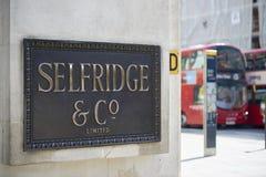 Selfridges Fotografia Stock Libera da Diritti