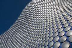 Selfridges, Birmingham. The exterior of Selfridges's store in Birmingham, UK, has a moulded profile and is decorated with distinct metal discs. It is one of the Royalty Free Stock Photography