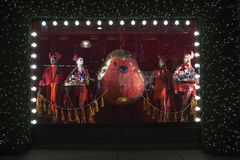 Selfridges, calle de Oxford, Londres, adornado por la Navidad y nuevo 2018 años Fotografía de archivo libre de regalías