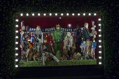 Selfridges, de Straat van Oxford, Londen, voor Kerstmis en het Nieuwe Jaar dat van 2018 wordt verfraaid Royalty-vrije Stock Afbeeldingen