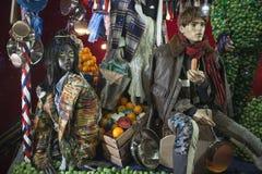Selfridges, de Straat van Oxford, Londen, voor Kerstmis en het Nieuwe Jaar dat van 2018 wordt verfraaid Stock Afbeeldingen