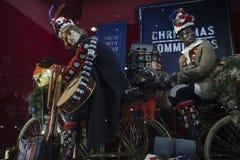 Selfridges, de Straat van Oxford, Londen, voor Kerstmis en het Nieuwe Jaar dat van 2018 wordt verfraaid Royalty-vrije Stock Fotografie