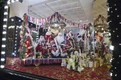 Selfridges, de Straat van Oxford, Londen, voor Kerstmis en het Nieuwe Jaar dat van 2018 wordt verfraaid Royalty-vrije Stock Foto