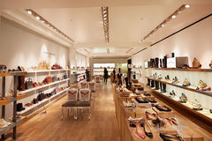 Selfridges department store interior, shoes area in London Stock Images