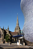 Selfridges e chiesa della st Martins, Birmingham Fotografie Stock Libere da Diritti