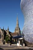 Selfridges e igreja do St Martins, Birmingham Fotos de Stock Royalty Free