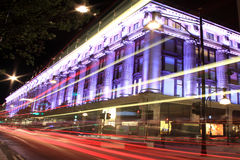 Selfridges la nuit Photos libres de droits