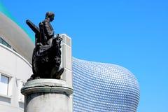 Selfridges och Nelson staty, Birmingham Fotografering för Bildbyråer