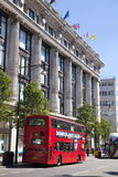 Selfridges superstore on Oxford street, shopping mail with famous fashion boutiques and big stores Stock Photos