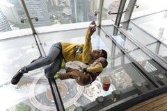 Selfy on TV tower, Shanghai Stock Photo