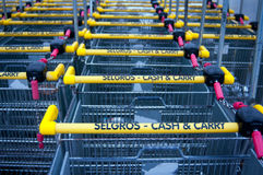 Selgros shopping carts 2 Stock Photos