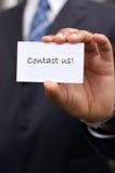 Seli metta in contatto con! Fotografie Stock Libere da Diritti