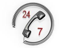 Seli metta in contatto con 24/7 Immagine Stock