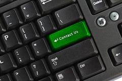 Seli metta in contatto con chiave sulla tastiera del pc Immagini Stock