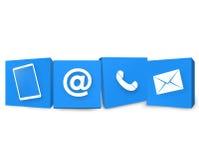 Seli metta in contatto con icone Immagine Stock Libera da Diritti