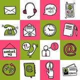 Seli metta in contatto con icone Immagini Stock