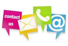 Seli metta in contatto con icone Immagine Stock