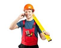 Seli metta in contatto con! Servizi della costruzione Fotografia Stock