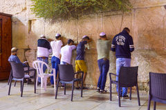 Free Selichot (Jewish Penitential Prays) In The Western Wall Stock Photo - 59799880