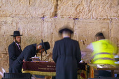 Selichot (Jewish penitential prays) in the western wall Royalty Free Stock Image