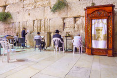 Selichot (Jewish penitential prays) in the western wall Stock Photos