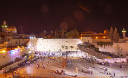 Selichot (Jewish penitential prays) in the western wall Royalty Free Stock Images