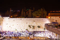 Selichot (Jewish penitential prays) in the western wall Royalty Free Stock Photo