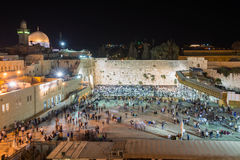 Selichotreis in Jeruzalem royalty-vrije stock afbeeldingen
