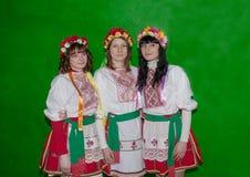 Selidovo Ukraina, Marzec, - 21, 2013: Dziewczyny w krajowych kostiumach Zdjęcia Stock