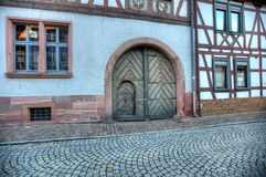 Seligenstadt Cobblestoned Street Stock Photos