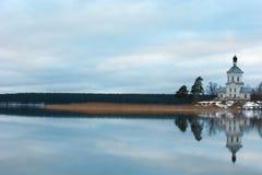 Seliger湖的St Nilus修道院 图库摄影