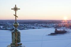 Seliger湖的St Nilus修道院 免版税图库摄影