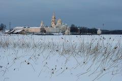 Seliger湖的St Nilus修道院 免版税库存图片