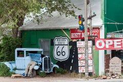 SELIGMAN, ARIZONA/USA - 31 ΙΟΥΛΊΟΥ: Εδώ βρίσκεται Pretzel του Μπίλι σε Rou Στοκ φωτογραφίες με δικαίωμα ελεύθερης χρήσης