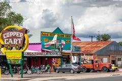 SELIGMAN, ARIZONA/USA - 31 ΙΟΥΛΊΟΥ: Το κάρρο χαλκού σε Seligman AR Στοκ Φωτογραφία