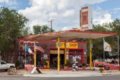 SELIGMAN ARIZONA/USA - JULI 31: Presentaffär Route 66 i Seligman Royaltyfria Bilder