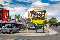 SELIGMAN, ARIZONA/USA - JULY 31 : The Copper Cart in Seligman Ar stock images