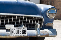 SELIGMAN - front of classic car along Route 66. Stock Photos