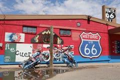 Seligman i Arizona på den historiska Roouten 66 Arkivbild