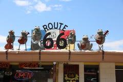 Seligman i Arizona på den historiska Roouten 66 Fotografering för Bildbyråer