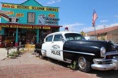 Seligman i Arizona på den historiska Roouten 66 Arkivbilder