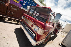 SELIGMAN - Old Vintage Ford Fire Truck along Route 66. Stock Photos
