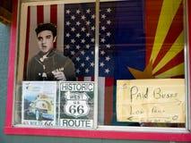 Seligman uma cidade em Route 66 Seligman está em Yavapai County, o Arizona, Estados Unidos Imagem de Stock