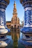 Selille, place de Plaza de Espana Espagne, Andalousie l'espagne Photo stock