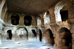 Selime修道院洞复合体 免版税图库摄影