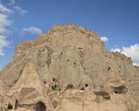 Selime Cathedral, Aksaray province, Turkey. Rocks, mountains, rocks and clean sky in Kapadokya, Urgup, Goreme, Turkey Royalty Free Stock Images