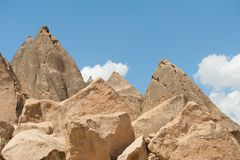 Selime Monastery. Old Cave Salime Monastery in Cappadocia, Turkey Royalty Free Stock Photos