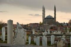Selimie moské, Edirne, kalkon Arkivfoto
