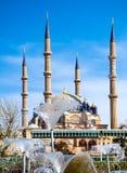 Selimiye清真寺土耳其语Selimiye Camii正面图在爱迪尔内土耳其 图库摄影