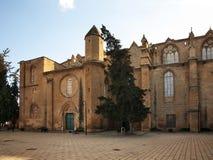 Selimiye清真寺(圣索菲娅大教堂)在尼科西亚 塞浦路斯 免版税库存照片